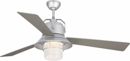 Monte Carlo Fans 3BTR54PBSD Boynton 54 Contemporary Painted Brushed Steel LED Exterior 54  Ceiling Fan