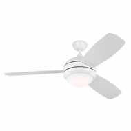 Monte Carlo Fans 3DIR52RZWD Discus Trio Rubberized White LED Interior/Exterior 52  Ceiling Fan