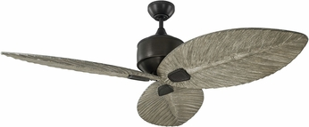 Monte Carlo Fans 3DLR56AGP Delray Contemporary Aged Pewter Outdoor 56 Ceiling Fan