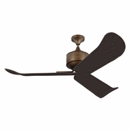 Monte Carlo Fans 3DYR56AGB Dylan Aged Brass Outdoor 56  Home Ceiling Fan