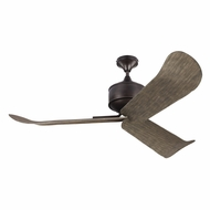 Monte Carlo Fans 3DYR56AGP Dylan Aged Pewter Exterior 56 Ceiling Fan