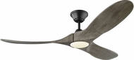 Monte Carlo Fans 3MAVR52AGPD Maverick II LED Modern Aged Pewter LED 52  Home Ceiling Fan