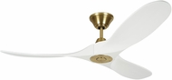 Monte Carlo Fans 3MAVR52RZWBBS Maverick II Modern Burnished Brass 52  Ceiling Fan