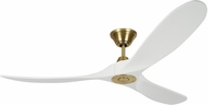 Monte Carlo Fans 3MAVR60RZWBBS Maverick Modern Burnished Brass 60  Home Ceiling Fan