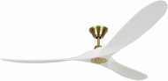 Monte Carlo Fans 3MAVR70RZWBBS Maverick Max Modern Burnished Brass 70  Ceiling Fan