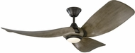 Monte Carlo Fans 3MER56AGPD Melody Modern Aged Pewter LED 56  Ceiling Fan