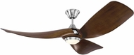 Monte Carlo Fans 3MER56BSD Melody Contemporary Brushed Steel LED 56  Home Ceiling Fan