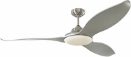 Monte Carlo Fans 3STR60BSD Stockton Contemporary Brushed Steel LED 60 Home Ceiling Fan