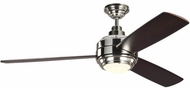 Monte Carlo Fans 3TAR56PNDMD Aerotour Contemporary Polished Nickel LED 56 Ceiling Fan