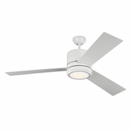 Monte Carlo Fans 3VNMR56RZWD Vision Max Contemporary Rubberized White LED Indoor/Outdoor 56  Home Ceiling Fan