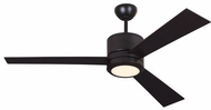 Monte Carlo Fans 3VNR52OZD-V1 Vision Contemporary Oil Rubbed Bronze LED 52 Home Ceiling Fan
