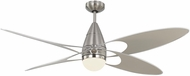 Monte Carlo Fans 4BFR54BSD-V1 Butterfly Contemporary Brushed Steel LED 54 Home Ceiling Fan