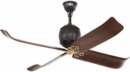 Monte Carlo Fans 4GIR60ATIHAB Giarre Traditional Antique Iron / Hand-Rubbed Antique Brass 60 Home Ceiling Fan
