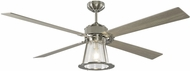 Monte Carlo Fans 4RKR60BSD Rockland Contemporary Brushed Steel LED 60 Ceiling Fan