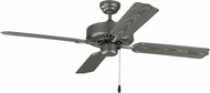 Monte Carlo Fans 4TK52PBS Tucker Painted Brushed Steel Exterior 52 Home Ceiling Fan