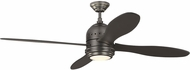 Monte Carlo Fans 4TSR56BNZD Metrograph Contemporary Deep Bronze LED 56  Ceiling Fan
