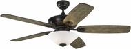 Monte Carlo Fans 5COM52AGPD Colony Max Plus Aged Pewter 52 Home Ceiling Fan