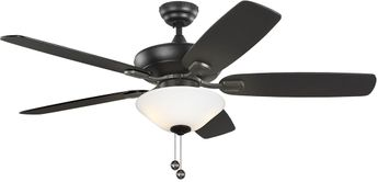 Monte Carlo Fans 5COM52MBKD-V1 Colony Max Plus Midnight Black LED 52  Home Ceiling Fan