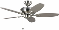 Monte Carlo Fans 5CQM44BS Centro Max II Brushed Steel 44 Ceiling Fan Light Fixture