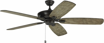 Monte Carlo Fans 5CSM60AGP Colony Super Max Aged Pewter 60 Ceiling Fan