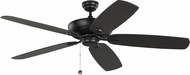 Monte Carlo Fans 5CSM60MBK Colony Super Max Midnight Black 60  Ceiling Fan