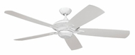 Monte Carlo Fans 5CY60WH Cyclone White Finish 60 Inch Wide Transitional Home Ceiling Fan