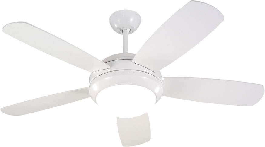 Monte Carlo Fans 5di44whd Discus Ii Modern White Matte Opal 44 Nbsp Indoor Ceiling Fan Loading Zoom