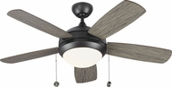 Monte Carlo Fans 5DIC44AGPD-V1 Discus Classic II Aged Pewter LED 44 Home Ceiling Fan