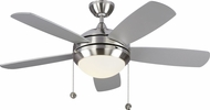 Monte Carlo Fans 5DIC44BSD-V1 Discus Classic II Brushed Steel LED 44  Home Ceiling Fan