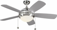 Monte Carlo Fans 5DIC44PND-V1 Discus Classic II Polished Nickel LED 44 Ceiling Fan
