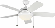 Monte Carlo Fans 5DIC44WHD-V1 Discus Classic II White LED 44 Ceiling Fan