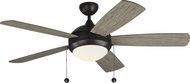 Monte Carlo Fans 5DIC52AGPD-V1 Discus Classic Aged Pewter LED 52 Home Ceiling Fan