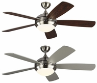 Monte Carlo Fans 5DIC52BSD Discus Classic Contemporary Brushed Steel LED 52 Home Ceiling Fan