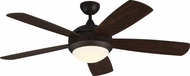 Monte Carlo Fans 5DIC52RBD Discus Classic Contemporary Roman Bronze LED 52 Home Ceiling Fan