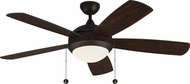 Monte Carlo Fans 5DIC52RBD-V1 Discus Classic Roman Bronze LED 52 Home Ceiling Fan