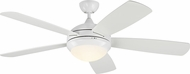 Monte Carlo Fans 5DIC52WHD Discus Classic Modern White LED 52 Ceiling Fan