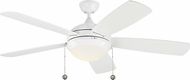 Monte Carlo Fans 5DIC52WHD-V1 Discus Classic White LED 52 Ceiling Fan