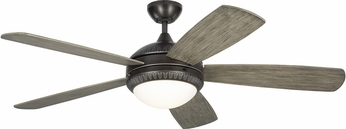 Monte Carlo Fans 5DIO52AGPD Discus Ornate Aged Pewter LED 52 Ceiling Fan
