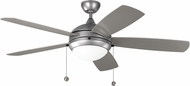 Monte Carlo Fans 5DIW52PBSD Discus Painted Brushed Steel LED Outdoor 52 Home Ceiling Fan