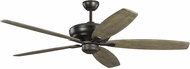 Monte Carlo Fans 5DVR60AGP Dover 60 Aged Pewter 60 Home Ceiling Fan