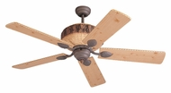 Monte Carlo Fans 5GL52WI Great Lodge 52 Inch Wide Weathered Iron Finish Rustic Ceiling Fan With Lodge Pine Blades