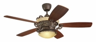 Monte Carlo Fans 5SBR56TBD-L Strasburg Traditional Style 56 Inch Wide Tuscan Bronze Indoor Ceiling Fan