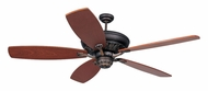 Monte Carlo Fans 5SIRB St. Ives Customizable Traditional Home Ceiling Fan With Blade Options - Roman Bronze