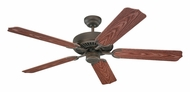 Monte Carlo Fans 5WF52RB Weatherford 52 Inch Wide Roman Bronze Exterior Ceiling Fan With American Walnut Blades