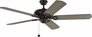 Monte Carlo Fans 5YK60AGP York 60 Aged Pewter 60  Home Ceiling Fan