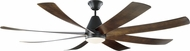 Monte Carlo Fans 8KGR72BKD Kingston Modern Matte Black LED 72  Home Ceiling Fan