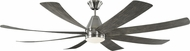 Monte Carlo Fans 8KGR72BSLGWOD Kingston Contemporary Brushed Steel LED 72  Ceiling Fan