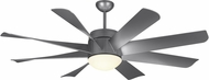 Monte Carlo Fans 8TNR56PBSD Turbine Contemporary Painted Brushed Steel LED 56 Ceiling Fan