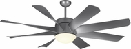 Monte Carlo Fans 8TNR56PBSD-V1 Turbine LED Contemporary Painted Brushed Steel / Matte Opal LED 56 Ceiling Fan