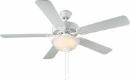 Monte Carlo Fans BF2-WH HomeBuilder II White 52 Indoor Ceiling Fan